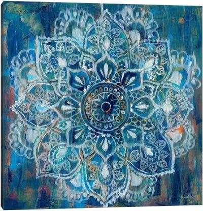 Mandala in Blue II Canvas Print #WAC4194