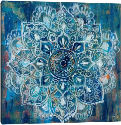 Mandala in Blue II Canvas Art Print