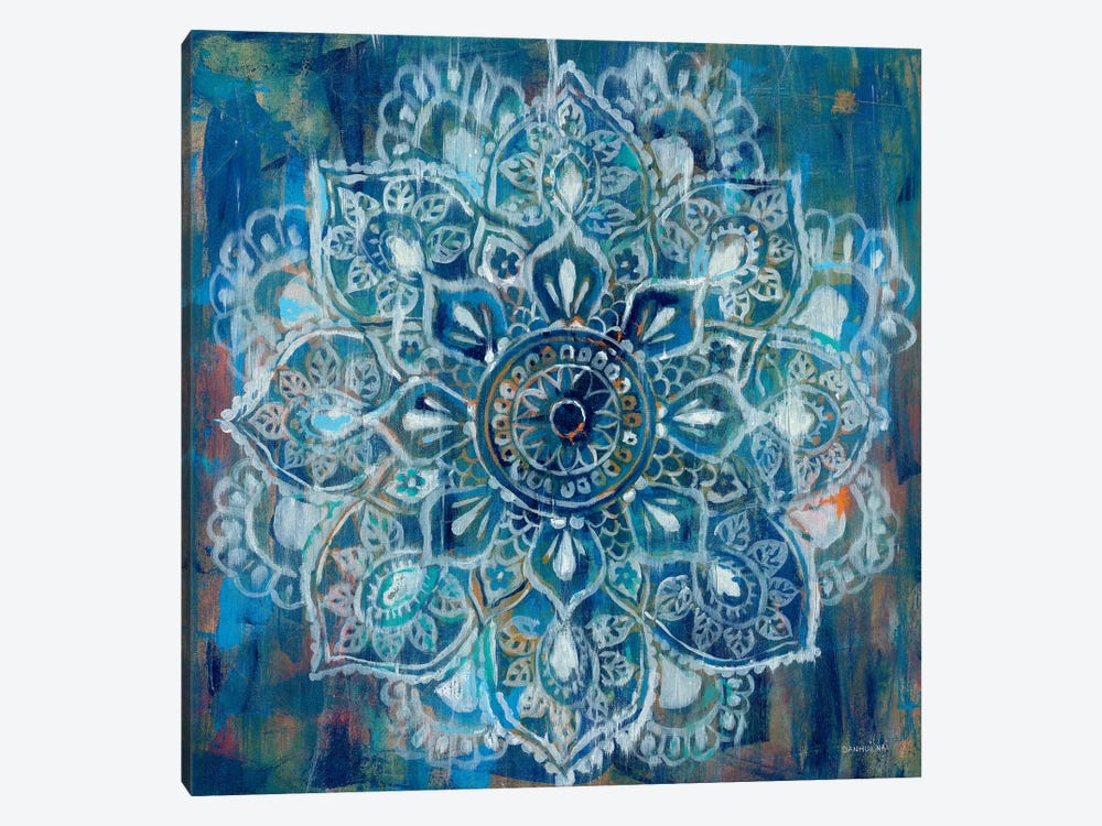 Mandala in Blue II by Danhui Nai 1-piece Canvas Wall Art