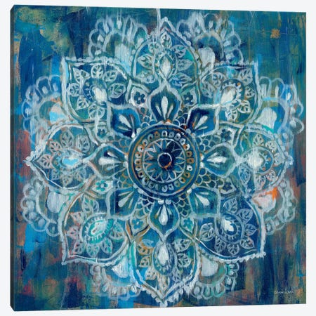 Mandala in Blue II 3-Piece Canvas #WAC4194} by Danhui Nai Canvas Art
