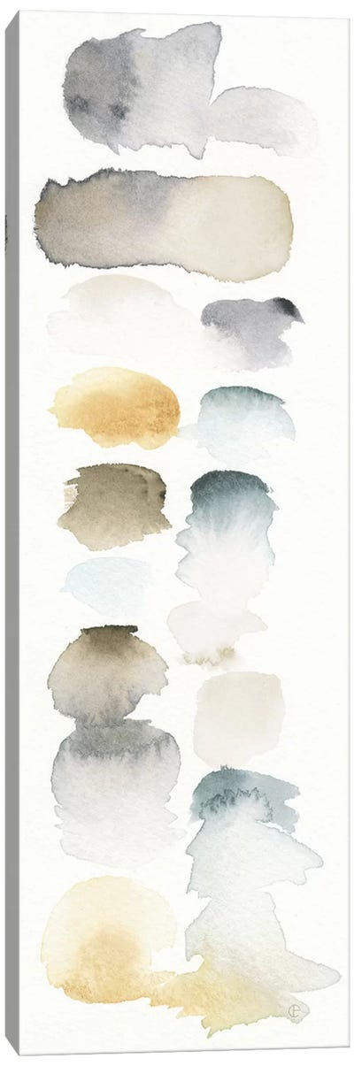 Watercolor Swatch Panel (Neutral) I Canvas Art Print
