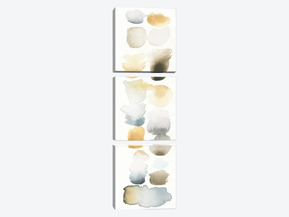 Watercolor Swatch Panel (Neutral) II by Elyse DeNeige 3-piece Canvas Print
