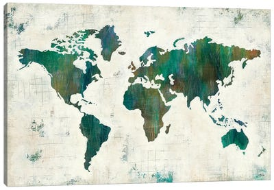 Discover The World Canvas Art Print