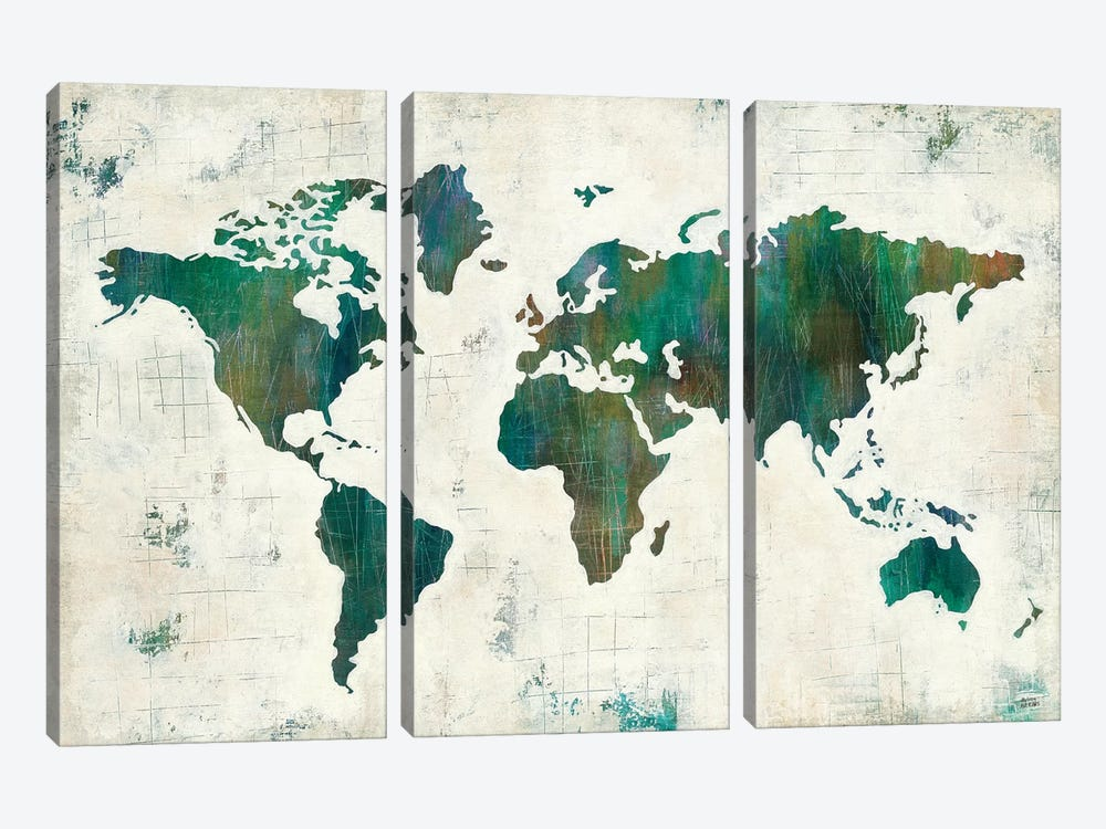 Discover The World by Melissa Averinos 3-piece Canvas Art