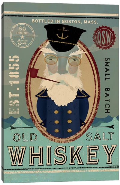 Old Salt Whiskey (Fisherman III) Canvas Art Print