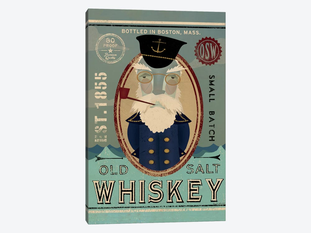 Old Salt Whiskey (Fisherman III) by Ryan Fowler 1-piece Canvas Print