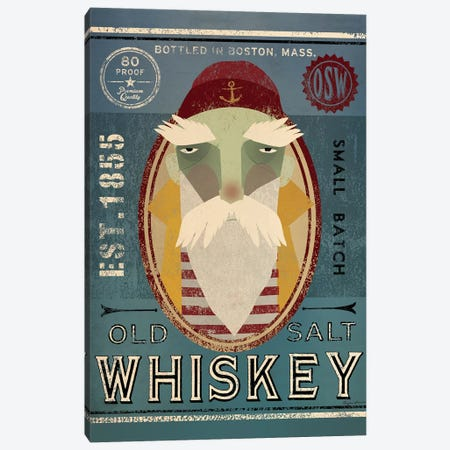 Old Salt Whiskey (Fisherman VIII) Canvas Print #WAC4203} by Ryan Fowler Canvas Art Print