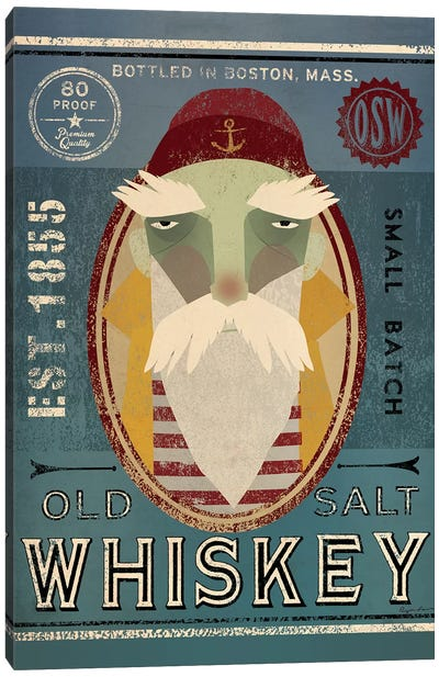 Old Salt Whiskey (Fisherman VIII) Canvas Art Print