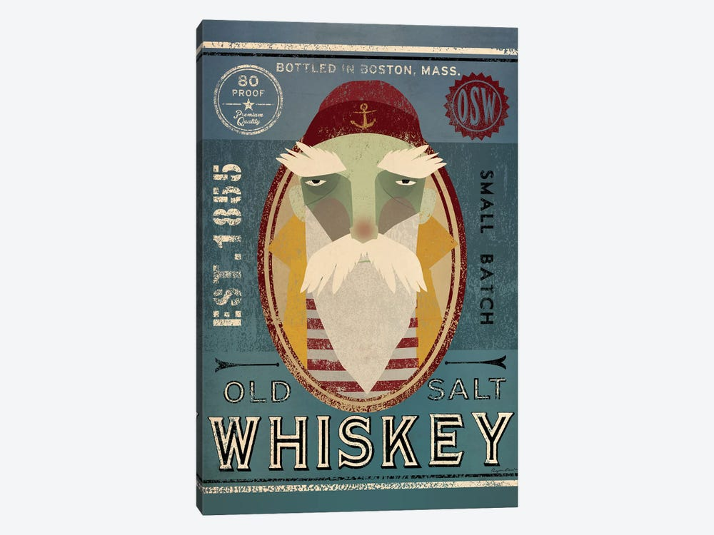Old Salt Whiskey (Fisherman VIII) by Ryan Fowler 1-piece Canvas Wall Art