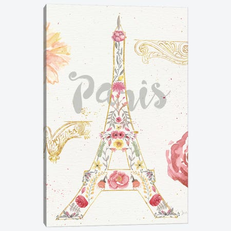 Paris Blooms I Canvas Print #WAC4209} by Jess Aiken Canvas Art Print