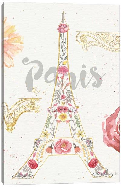 Paris Blooms I Canvas Print #WAC4209