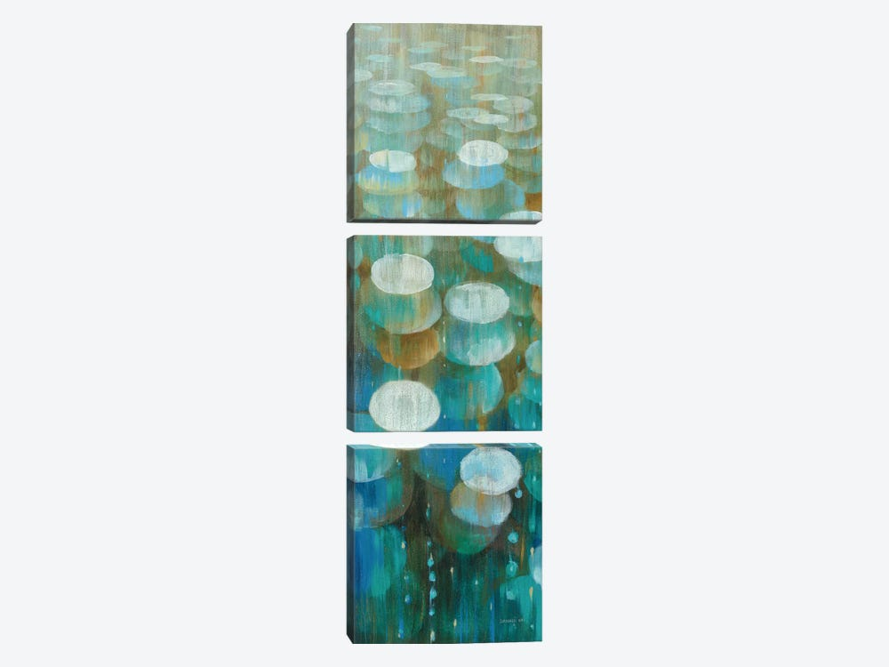 Raindrops II by Danhui Nai 3-piece Canvas Art Print