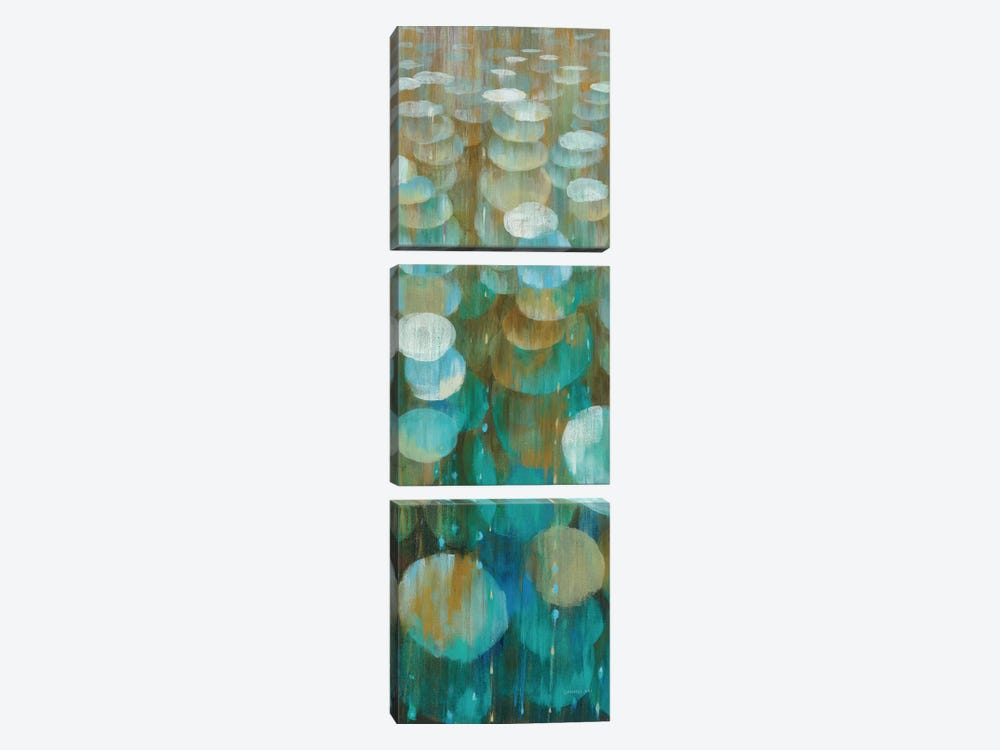 Raindrops III by Danhui Nai 3-piece Canvas Wall Art
