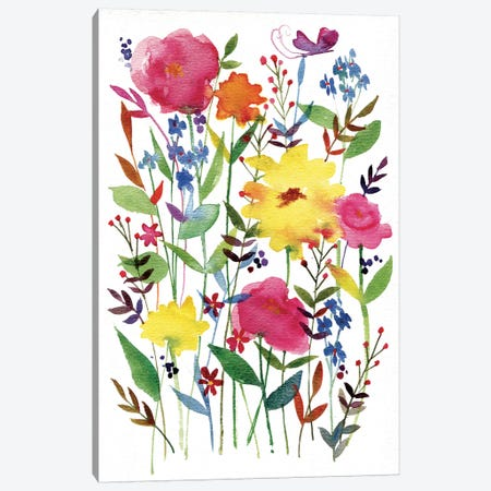 Annes Flowers III Canvas Print #WAC4219} by Anne Tavoletti Canvas Art