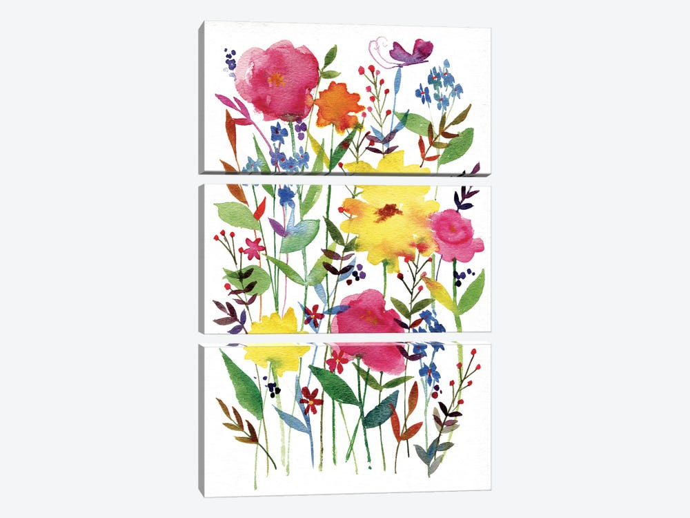 Annes Flowers III by Anne Tavoletti 3-piece Art Print