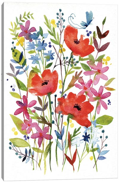 Annes Flowers IV Canvas Print #WAC4220