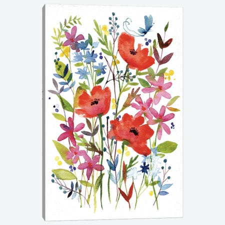 Annes Flowers IV Canvas Print #WAC4220} by Anne Tavoletti Canvas Print