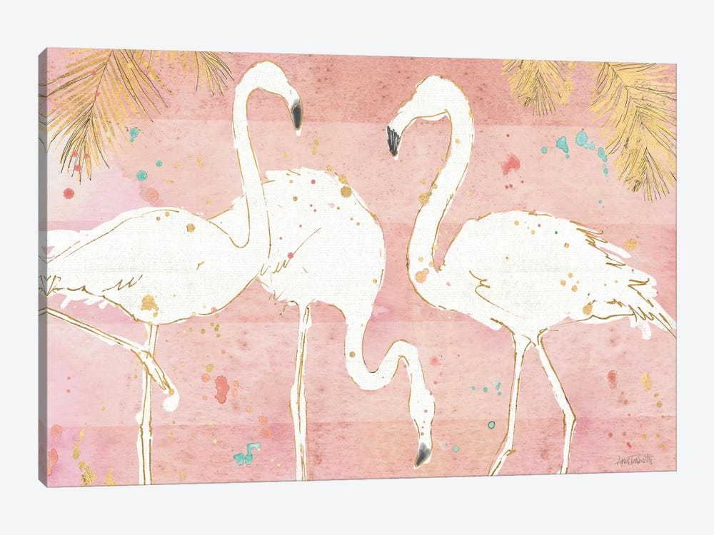 Flamingo Fever IV by Anne Tavoletti 1-piece Canvas Artwork