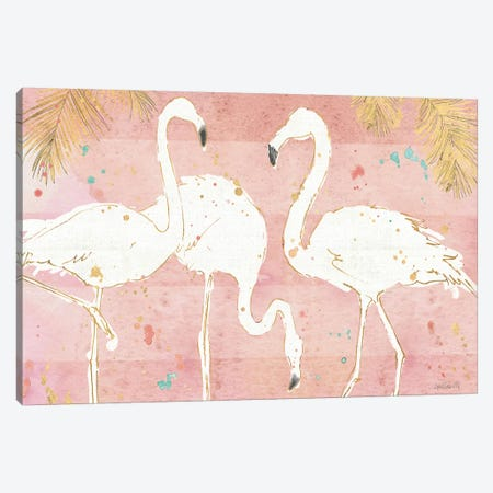 Flamingo Fever IV 3-Piece Canvas #WAC4223} by Anne Tavoletti Canvas Art Print