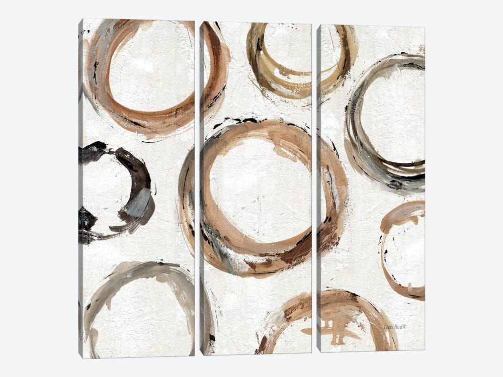 Abstract Balance XI by Lisa Audit 3-piece Canvas Art Print