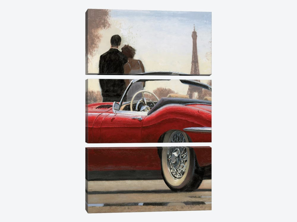 A Ride In Paris I by Marco Fabiano 3-piece Canvas Art