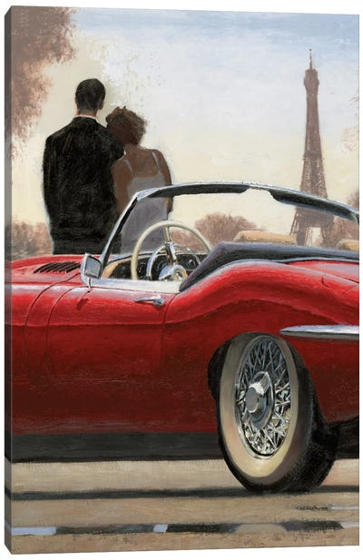 A Ride In Paris I Canvas Art Print