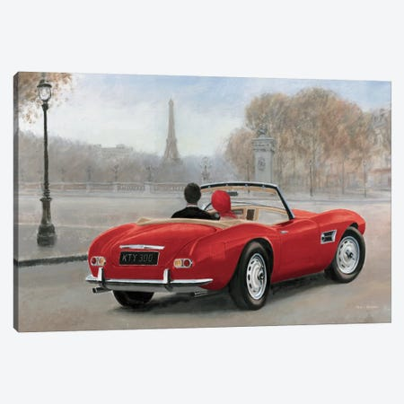 A Ride In Paris III Canvas Print #WAC4228} by Marco Fabiano Art Print