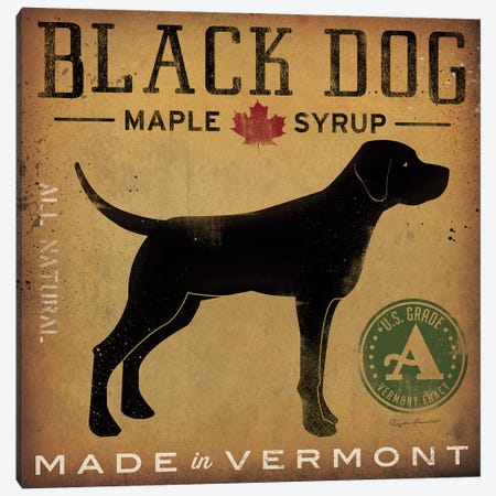 Black Dog Maple Syrup Canvas Print #WAC4234} by Ryan Fowler Art Print