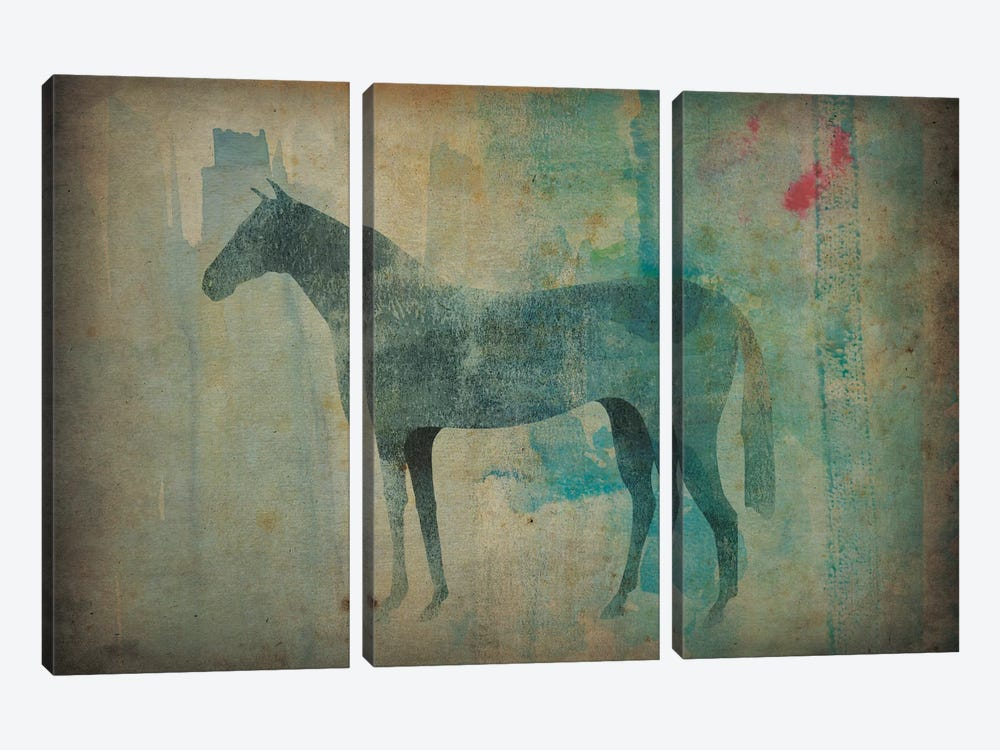 Cheval Noir III by Ryan Fowler 3-piece Canvas Artwork