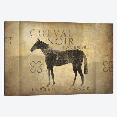 Cheval Noir IV Canvas Print #WAC4237} by Ryan Fowler Canvas Print