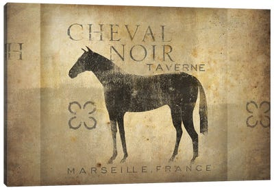 Cheval Noir IV Canvas Art Print