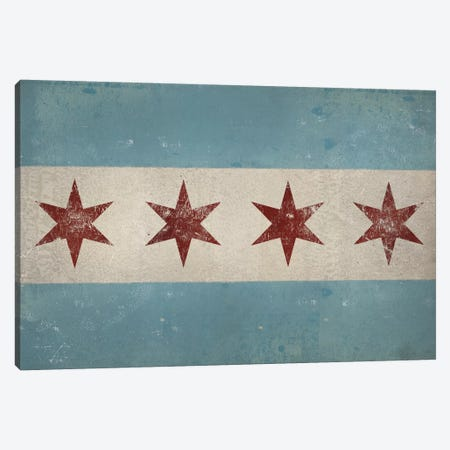 Chicago Flag Canvas Print #WAC4238} by Ryan Fowler Canvas Wall Art