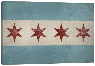 Chicago Flag Canvas Art Print