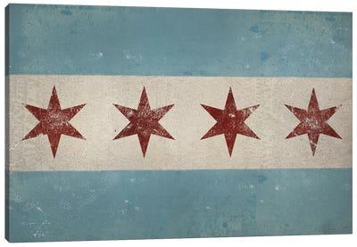 Chicago Flag Canvas Art Print