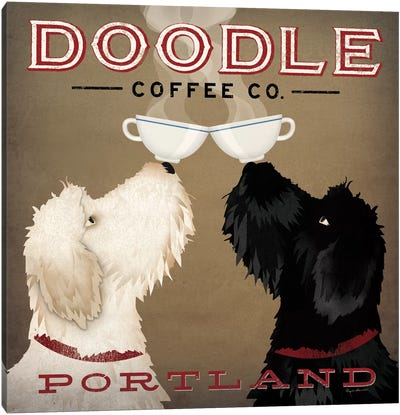 Doodle Coffee Co. Canvas Art Print