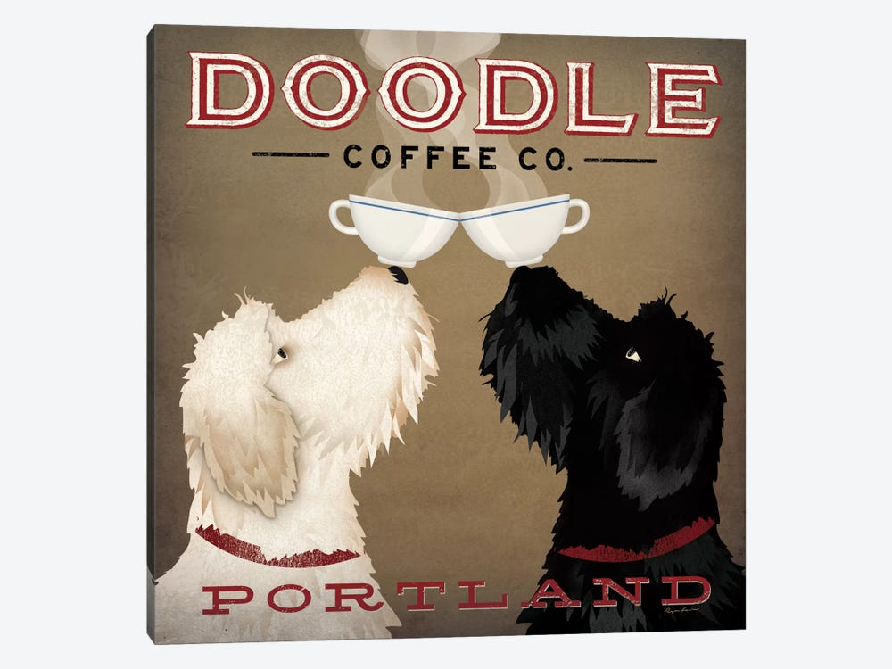 Doodle Coffee Co. by Ryan Fowler 1-piece Canvas Print