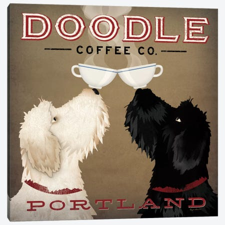 Doodle Coffee Co. Canvas Print #WAC4239} by Ryan Fowler Canvas Wall Art