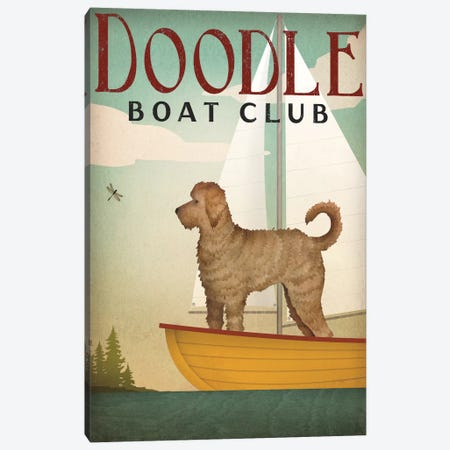 Doodle Boat Club Canvas Print #WAC4240} by Ryan Fowler Art Print