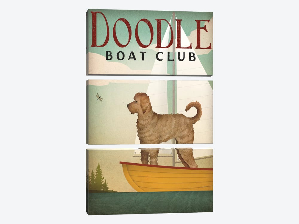 Doodle Boat Club by Ryan Fowler 3-piece Art Print