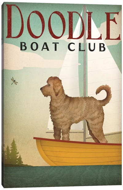 Doodle Boat Club Canvas Art Print