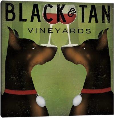 Black & Tan Vineyards (Doberman Pinschers) Canvas Art Print