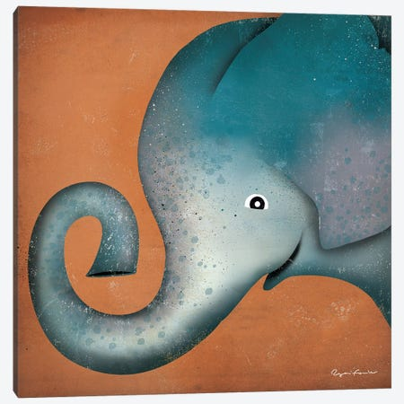 Elephant WOW Canvas Print #WAC4242} by Ryan Fowler Canvas Print