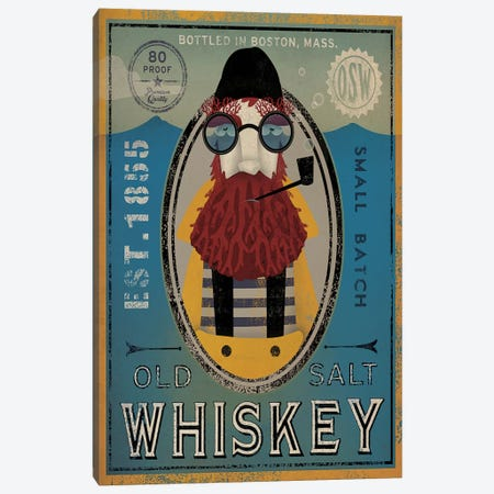 Old Salt Whiskey (Fisherman IV) Canvas Print #WAC4243} by Ryan Fowler Canvas Art Print