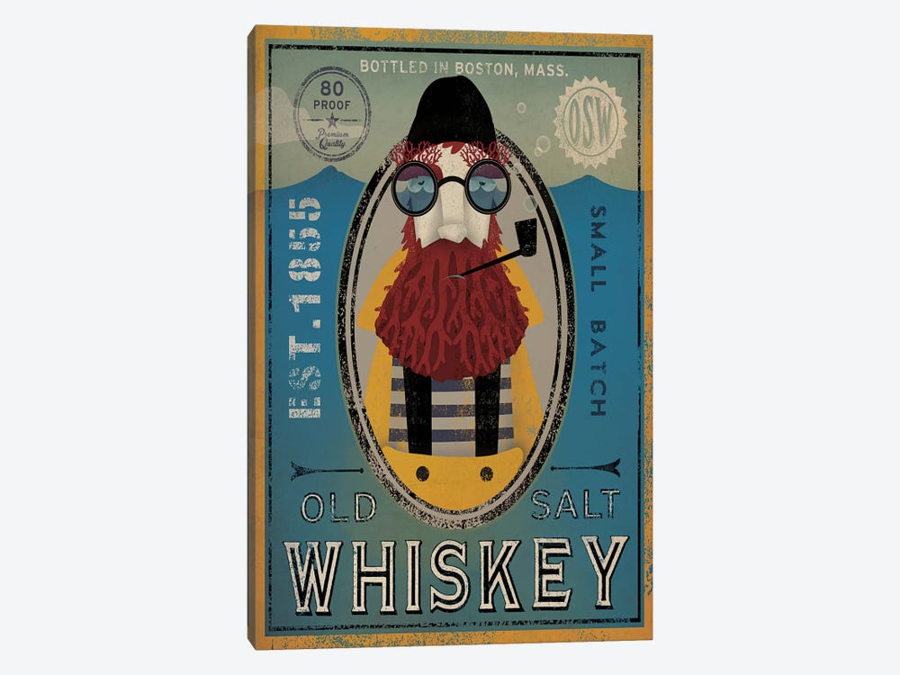 Old Salt Whiskey (Fisherman IV) by Ryan Fowler 1-piece Canvas Wall Art