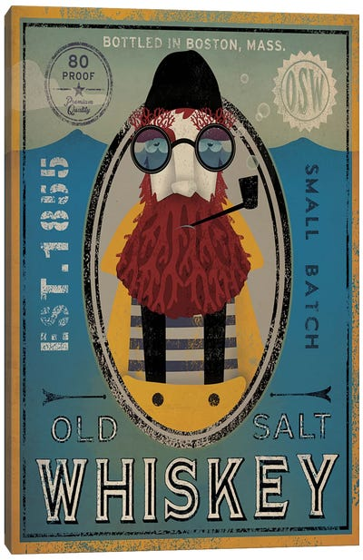 Old Salt Whiskey (Fisherman IV) Canvas Art Print
