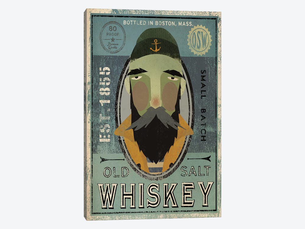 Old Salt Whiskey (Fisherman V) by Ryan Fowler 1-piece Canvas Print