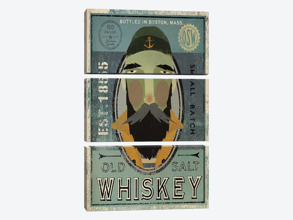 Old Salt Whiskey (Fisherman V) by Ryan Fowler 3-piece Art Print