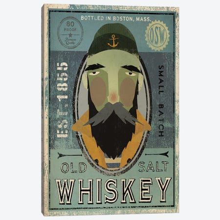 Old Salt Whiskey (Fisherman V) Canvas Print #WAC4244} by Ryan Fowler Canvas Wall Art