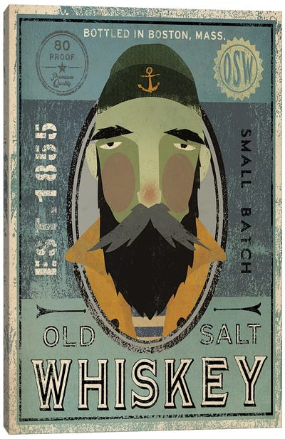 Old Salt Whiskey (Fisherman V) Canvas Art Print