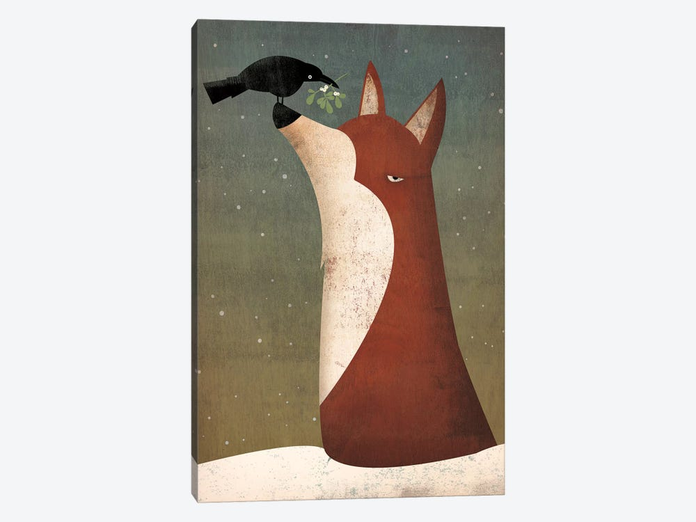Fox And Mistletoe by Ryan Fowler 1-piece Canvas Artwork